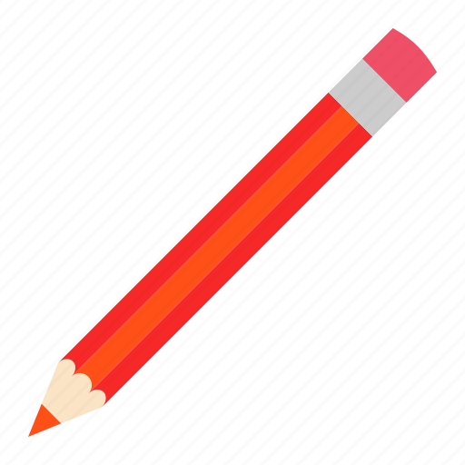hovytech, office, pencil, red, school, stationery, work icon