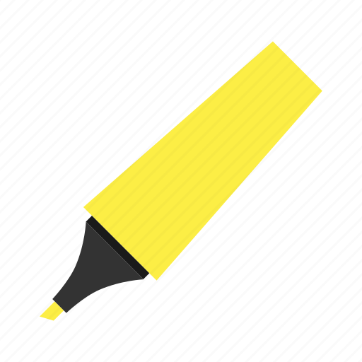 highlighter, hovytech, office, school, stationery, work, yellow icon