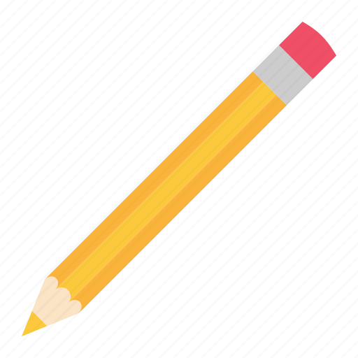 hovytech, office, pencil, school, stationery, work, yellow icon