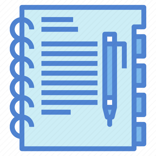 notebook, notepad, notes, writing icon