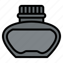 inkwell, ink, stationery, office, supply