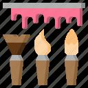 art, artist, brush, design, paint, painting, tools icon