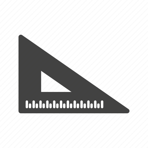 angle, instrument, object, ruler, school, set, triangle icon