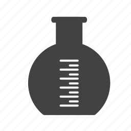 flask, laboratory, round, science, solution, test, water icon
