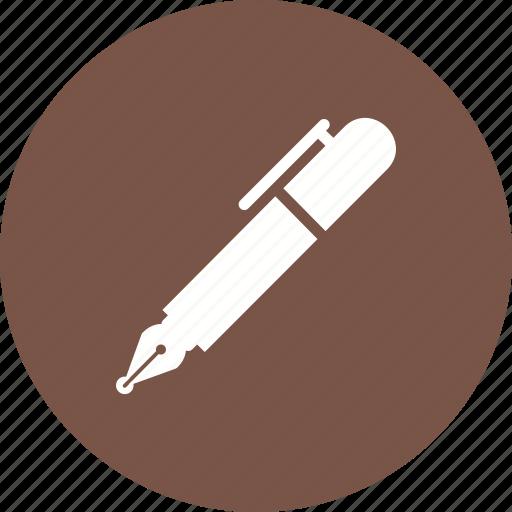 fountain, ink, nib, pen, sign, signature, write icon
