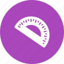 angle, geometry, math, mathematical, measure, protractor, semi icon