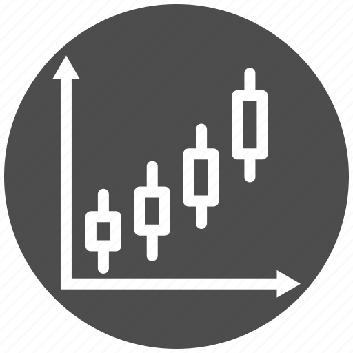 analysis, business, candle, chart, diagram, graph, stock icon