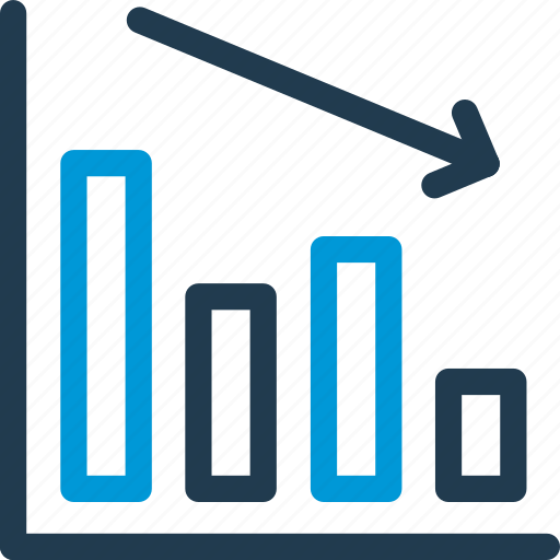 Chart, curve, diagram, down, graph, infographic, statistics icon - Download on Iconfinder