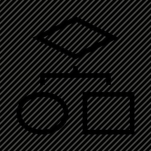 chart, glow icon