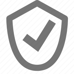 check, select, shield icon
