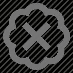 bubble, close, delete icon