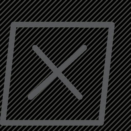 box, cancel, close, denied, discard, dismiss, status, unsafe icon