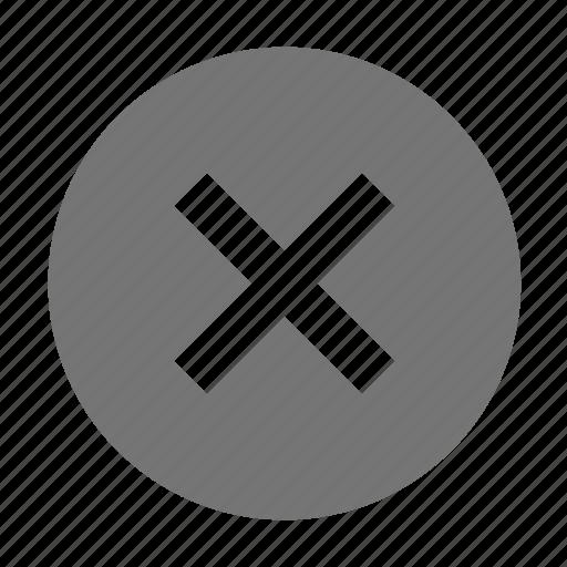circle, close, delete, remove icon