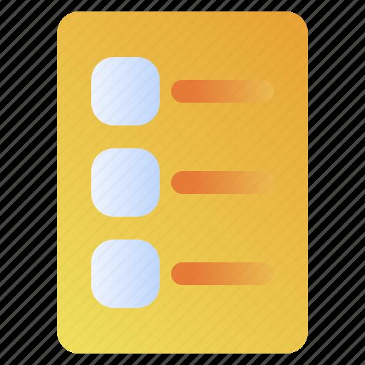 Checklist, document, list, note, questionnaire icon - Download on Iconfinder