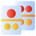 domino, entertainment, gambling, game, number icon