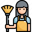 activity, clean, cleaner, cleaning, housework, hygiene, woman icon