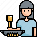 activity, cook, cooking, food, home, kitchen, woman icon