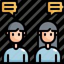 chat, communication, message, talking