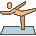 exercise, out, work, yoga icon