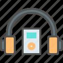 headphone, listen, music icon