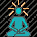 human, meditate, meditation icon