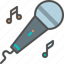 microphone, sing, song icon