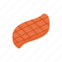 beef, cartoon, cooking, food, meat, piece, teak icon