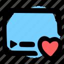 heart, like, stream, streamer icon