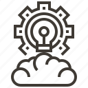 cloud, cogwheel, cogwheels, configuration, gears, settings, wheels icon