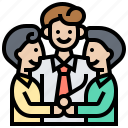 collaboration, teamwork, friendship, support, community, colleague icon