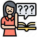 complex, difficulty, problem, question, riddle icon