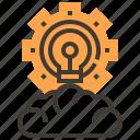 cloud, cogwheel, configuration, education, gears, settings, wheels icon