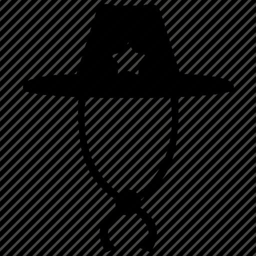 cowboy, hat, sheriff, west, wild icon