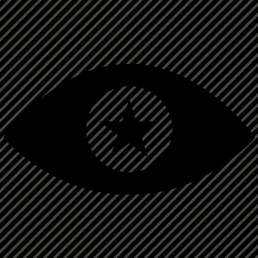bookmark, eye, favorite, preview, search, star, view icon