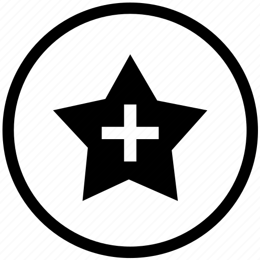 circle, cross, health, healthcare, hospital, medical, star icon