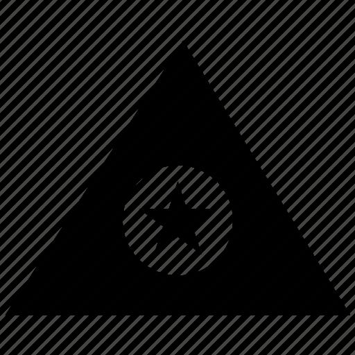 geometry, pyramid, star, triangle icon