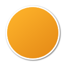ball, orange icon