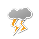 cloud, lightning, weather icon