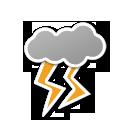 cloud, lightning, weather