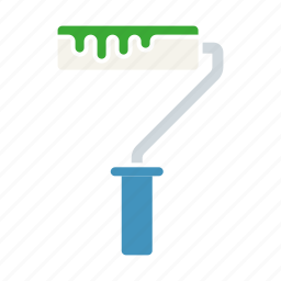 diy, equipment, paint, paint roller, painting, tool, workshop icon