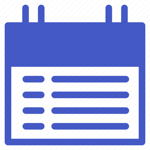 calendar, date, list, schedule, time, to do list icon