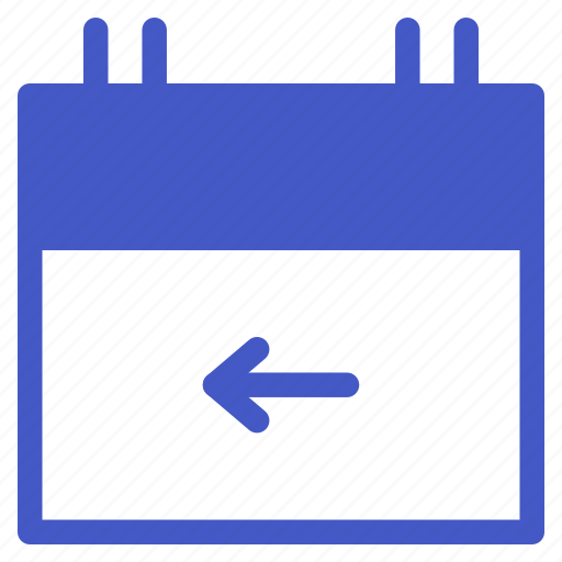 back, calendar, date, schedule, time icon