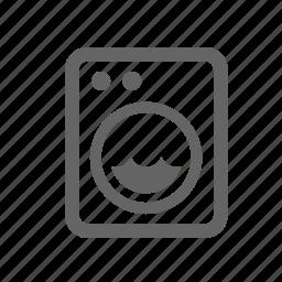 clothes, domestic, laundry, machine, rinse, washer, washing icon