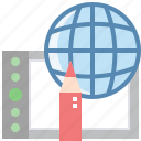 drawing, global, graphic, online, sell, worldwide icon