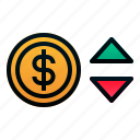 currency, dollar, finance, forex, investment, money, stocks icon
