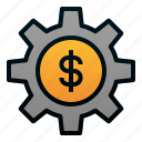 business, dollar, finance, investment, money management, stocks icon