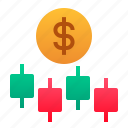 candlestick, finance, forex, investment, money, stocks, trading icon