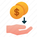 business, cashback, dividend, finance, investment, money, stocks icon