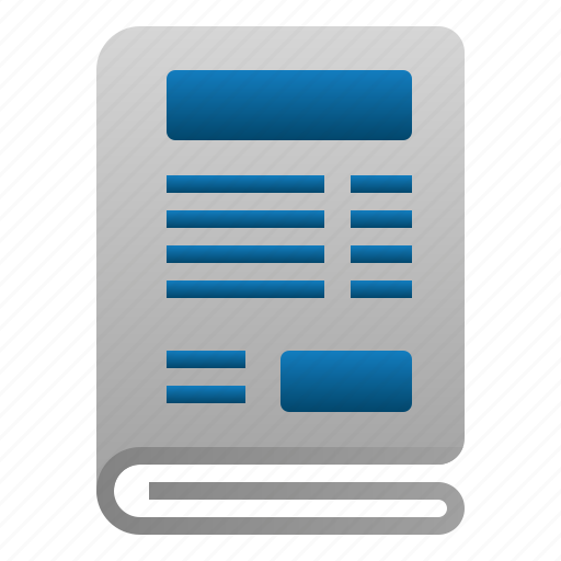 business, file, finance, news, paper, read icon