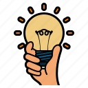 idea, worker, avatar, creativity, light, bulb